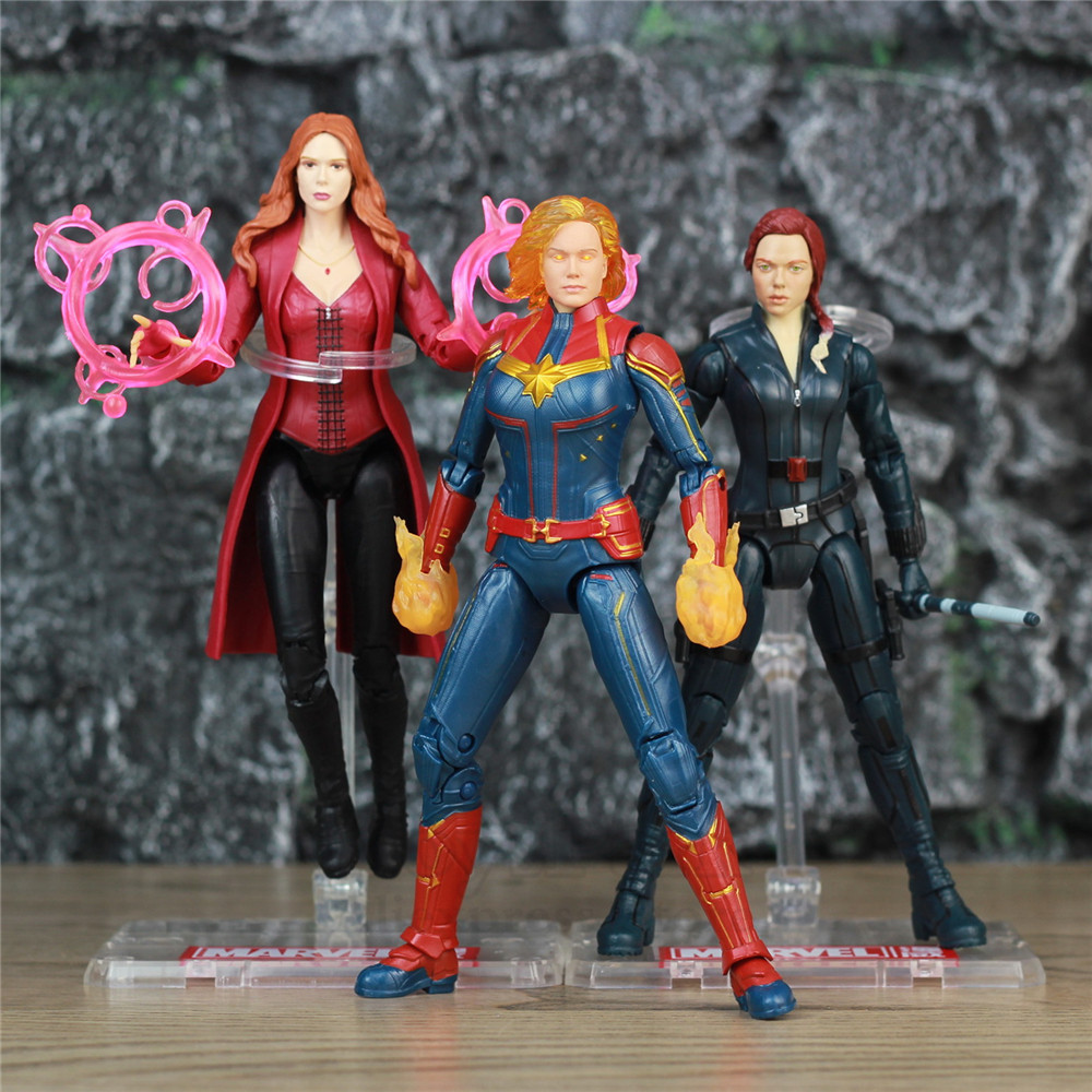 "Marvel Avengers 4 Endgame Scarlet Witch Captain Marvel Black Widow 6"" Action Figure Heroines Legends Toys Carol Danvers Doll-in Action & Toy Figures from Toys & Hobbies on AliExpress - 11.11_Double 11_Singles' Day 1"