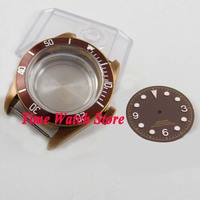41 ミリメートルサファイアガラス 20ATM コーヒー pvd 腕時計ケースフィット eta 2836 御代田ムーブメントとコーヒーダイヤル C106