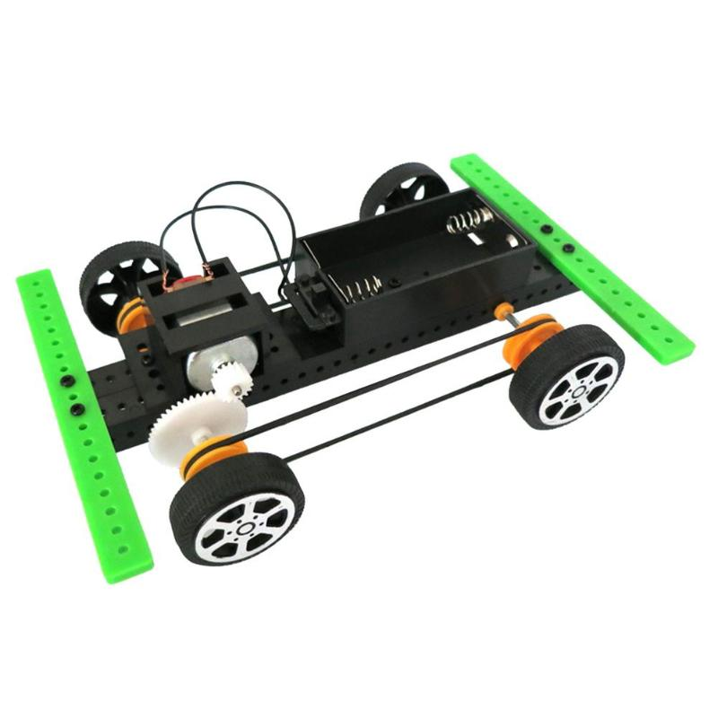 DIY Science Experiment Model Kit Four-wheel Drive Car Materials Creative Educational Toys Assemble Projects Teaching Equipment