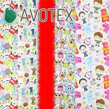 Avotex 1/2 Yard Printed Cartoon Character Woven Cotton Fabric Sewing Quilting For Patchwork Needlework DIY Handmade ,c5294