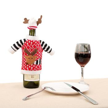 GloryStar Christmas Elk Red Wine Bottle Set Champagne Daily Necessities Party Supplies