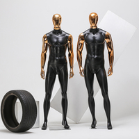 Model Male Body Plating Head Hand Dummy Clothing Muscle Mannequin