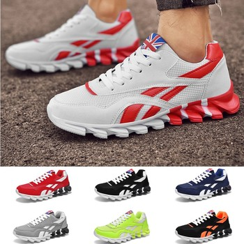 Men Women Fashion Sports Leisure Shoes Cushion Breathable Running Shoes Mixed Color Sneakers 10 Colors li ning men s cushion running shoes breathable textile sneakers support tpu lining sports shoes arhm057 xyp478
