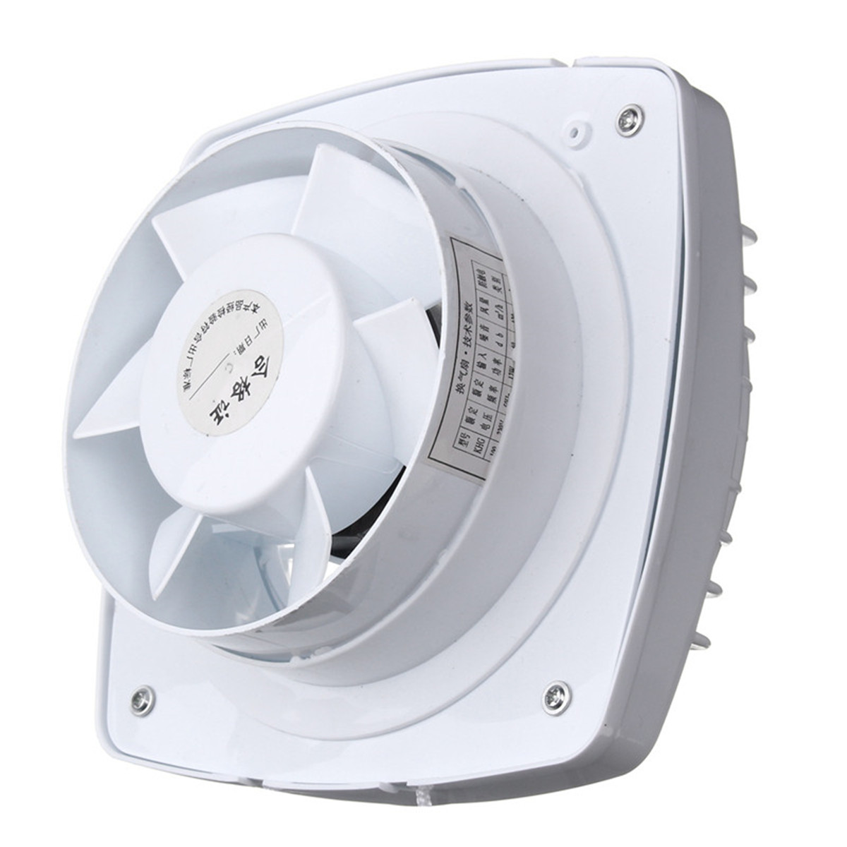 12W 6'' Pull Rope Exhaust Fan Kitchen Bathroom Toilet Small Air Conditioning Appliance Extractor Fan Ventilation Low Noise 220V 5