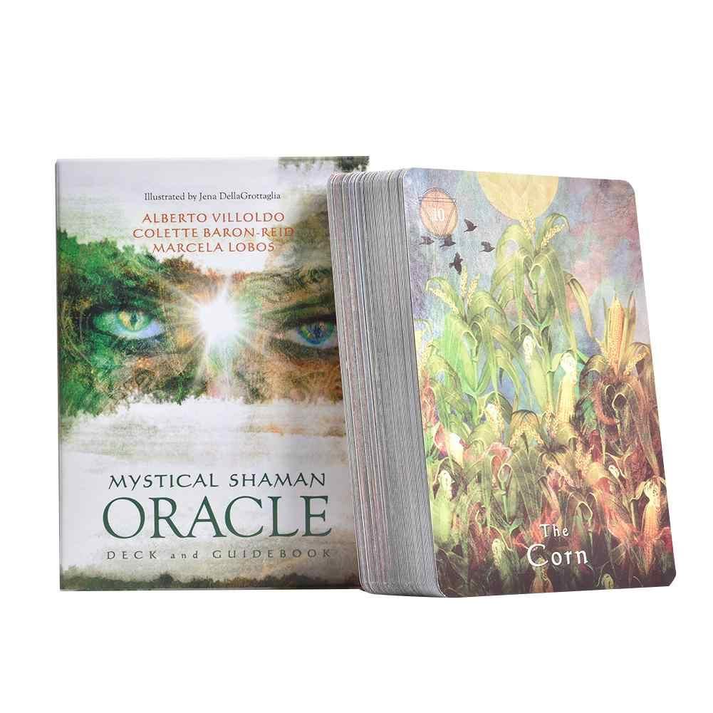 64 個神秘シャーマン Oracle カードデッキ英語神秘的な運命占いタロットカードボードゲームに女性パーティー家族
