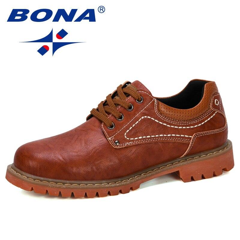 BONA 2019 New Designer Luxury Fashion Wedding Business Shoes Men Oxford Dress Shoes Men Formal Shoes Man Working Shoes Male