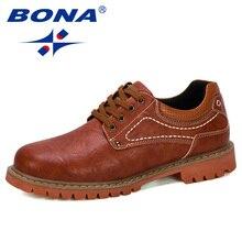 BONA 2019 חדש מעצב יוקרה אופנה חתונה עסקי נעלי גברים אוקספורד שמלת נעלי גברים נעליים רשמיות איש עבודה נעלי זכר