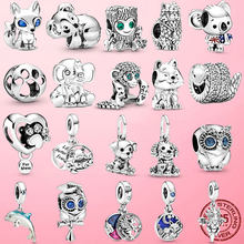 2020 Summer Hot 925 Sterling Silver Australia Surfing Koala Charm Beads Fit Original Pamura Bracelets DIY Jewelry Making Gift