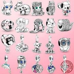 2020 Summer Hot 925 Sterling Silver Australia Surfing Koala Charm Beads Fit Original Pamura Bracelets DIY Jewelry Making Gift