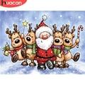 HUACAN алмазная вышивка 5d рождество Дед мороз Алмазная мозаика животные олень картина стразами живопись новогодний подарок