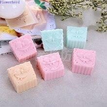 Plaster Mold Soap-Making-Supplies Handmade Soap Fondant Square Cartoon 6-Hole Character