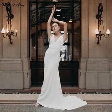 Женское свадебное платье в стиле бохо magic awn кружевное трапеция