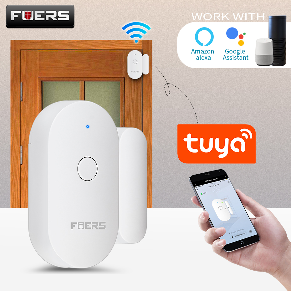 Door-Sensor Magnetic-Switch Security-Alarm Tuya Fuers Smart-Wifi Alert
