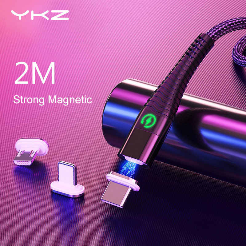 YKZ Type C Magnetic cable Micro USB Cable for iPhone X Samsung Xiaomi 3A Fast charging cable type-c cord wire magnet Data cables
