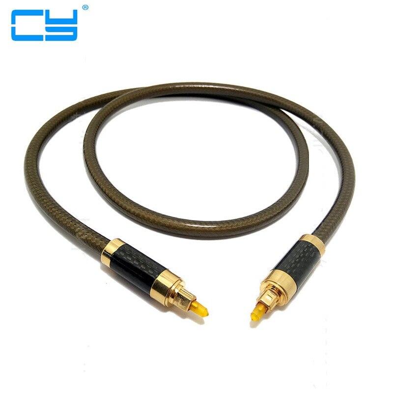 Qualidade de áudio digital cabo de fibra optica cabo od8.0mm áudio toslink macho para macho toslink cabo de fibra