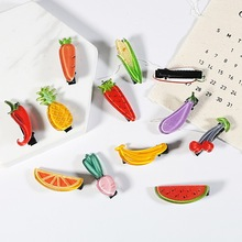 Hair-Clip Fruit Headdress Styling-Tool Beauty Simple New Cute Girl And Tiara-Side Vegetable