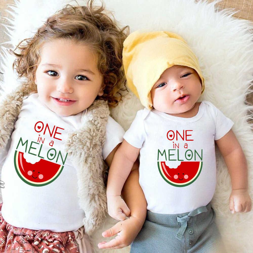 Watermeloen Afdrukken Pasgeboren Baby Kleding Baby Meisje Kleding Romper Kleding Peuter Baby Jongens Jumpsuit Outfits