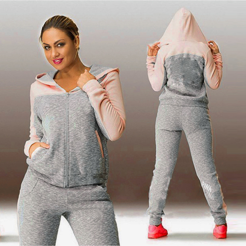 Spring Autumn Casual 3 Pieces Suit Women Hoodies Tops Tracksuit Sweat Suit Women's Set Sportswear Solid Long Pants#g3