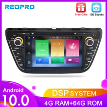Android 10.0 Car Radio DVD Stereo For Suzuki SX4 S Cross 2014 2015 2016  Audio GPS Multimedia Player Bluetooth Video Navigation