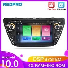Radio DVD estéreo para coche Android 10,0 para Suzuki SX4 s cross 2014 2015 2016 Audio GPS reproductor Multimedia Bluetooth Video navegación