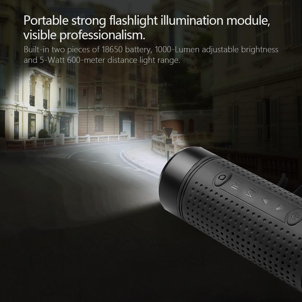 Kebidu JAKCOM OS2 портативный беспроводной bluetooth-динамик, уличный водонепроницаемый динамик для велосипедов с внешним аккумулятором, фонариком, по...