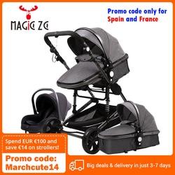 Stroller 3 in 1 Portable Travel Baby Carriage Folding Prams Aluminum Frame High Landscape Car for Newborn Babyboomer Poussette