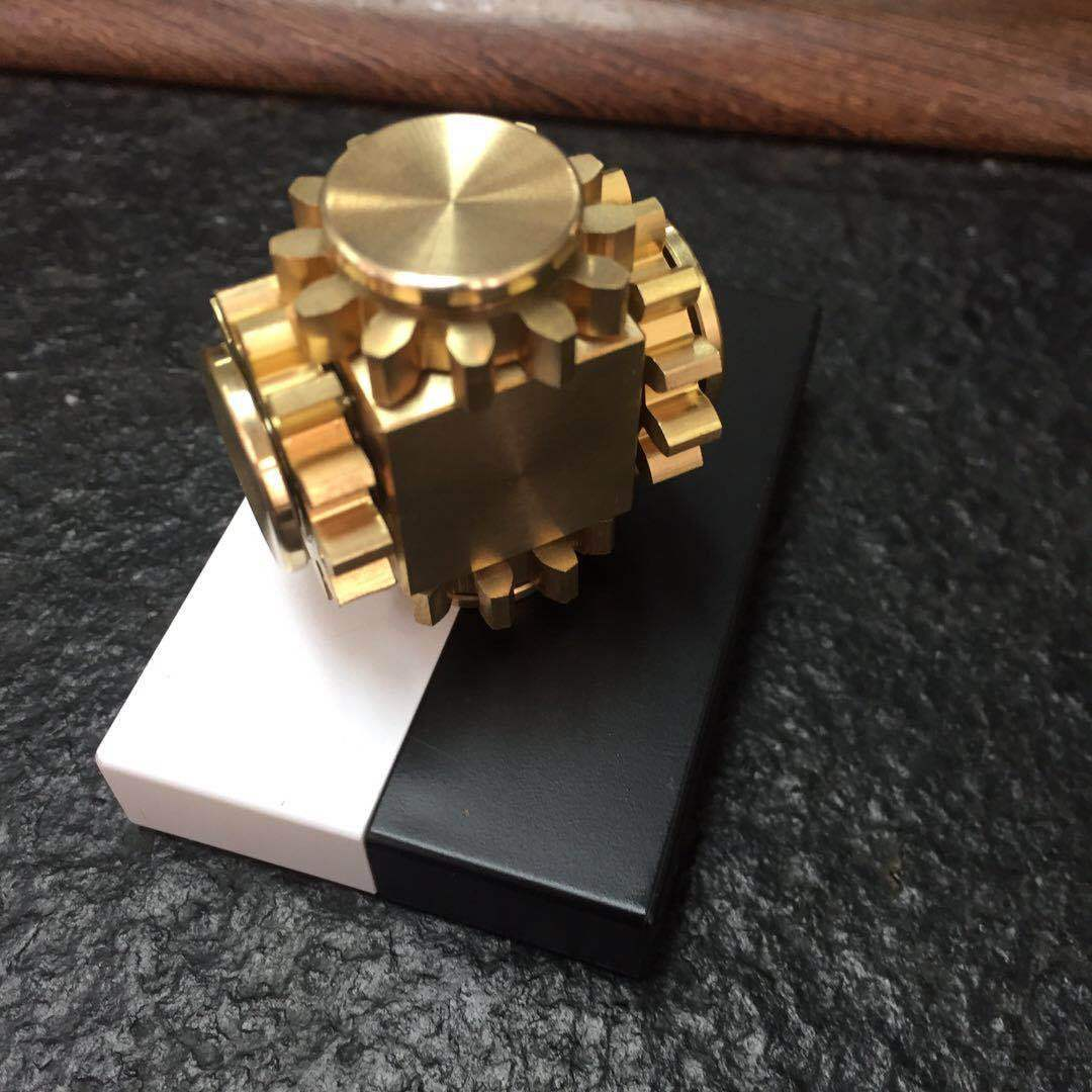 Nova engrenagem ligação cubo de descompressão dedo ponta giroscópio cubo louco engrenagem giroscópio
