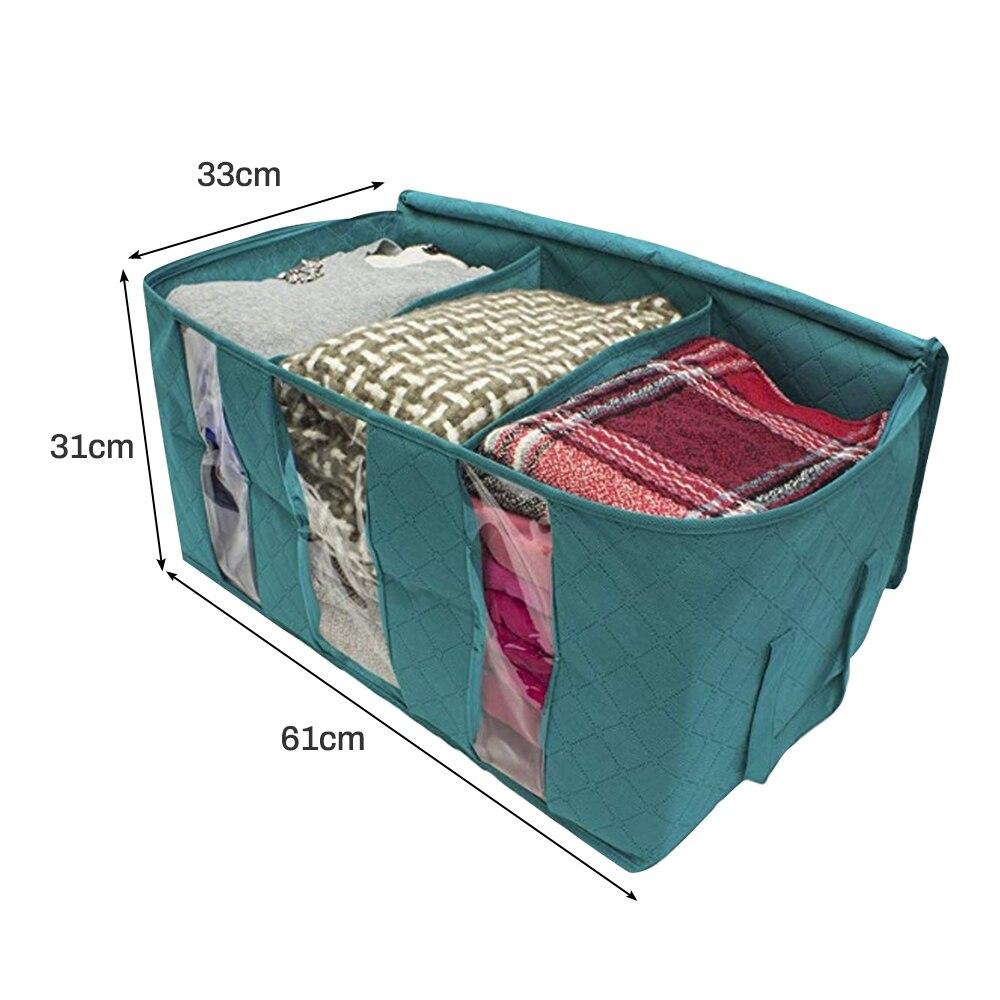 Складной тканевый ящик для хранения грязной одежды, чехол на молнии для игрушек, стеганая коробка для хранения, прозрачный влагостойкий Органайзер - Цвет: G252559B