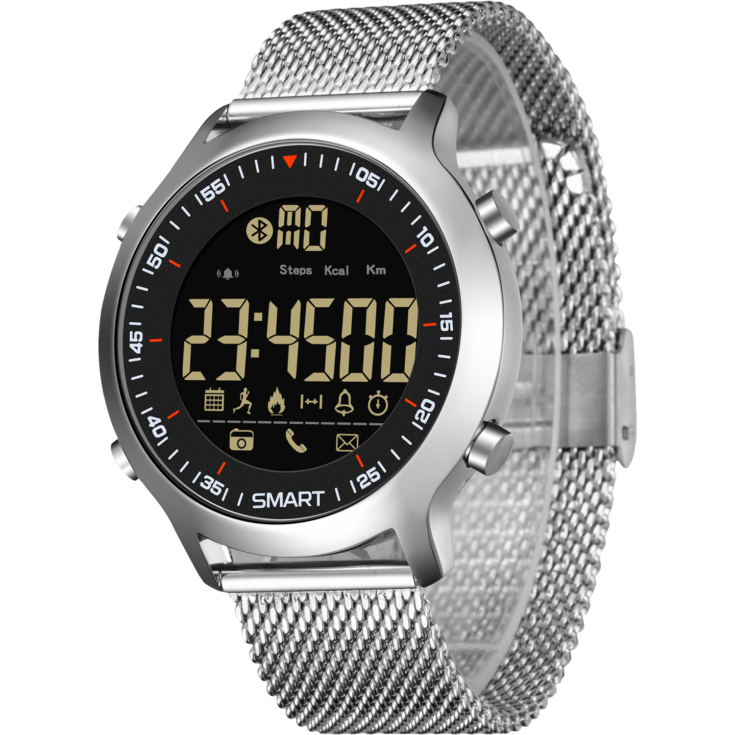 Male Smart Sport Watch Pedometer G Type Shock Outdoor Watches 50M Waterproof Digital Men Wristwatch IOS Android