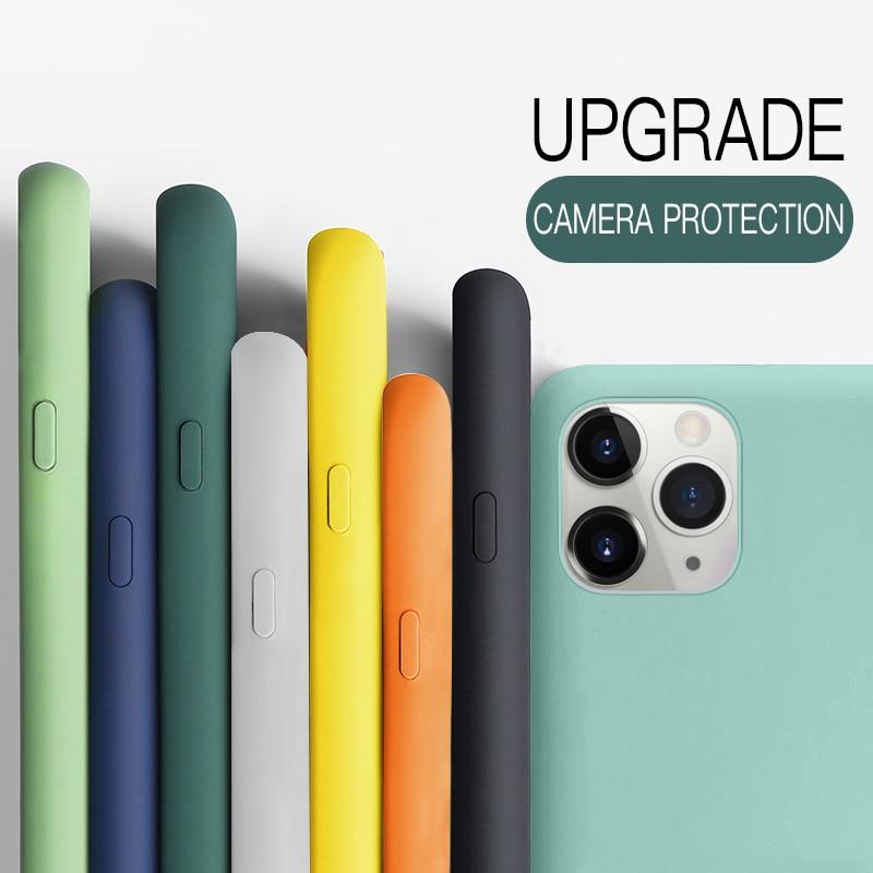 Custodia YISHANGOU per iPhone 11 12 Pro Max SE 2 2020 6 S 7 8 Plus X XS MAX XR 12 Mini custodia morbida in Silicone per coppie Color caramella 2