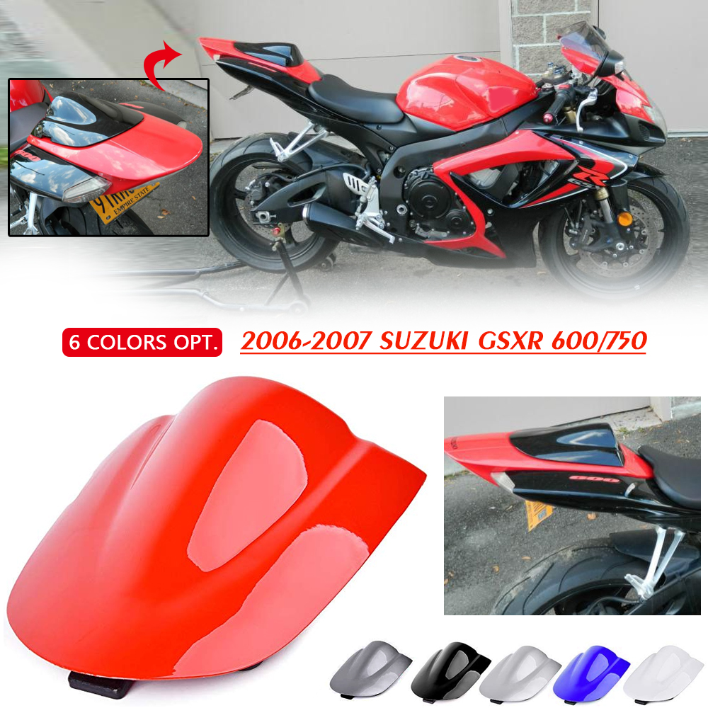 New ABS Motorcycle Rear Seat Cover Cowl for Suzuki GSXR600//GSXR750 2006-2007 K6
