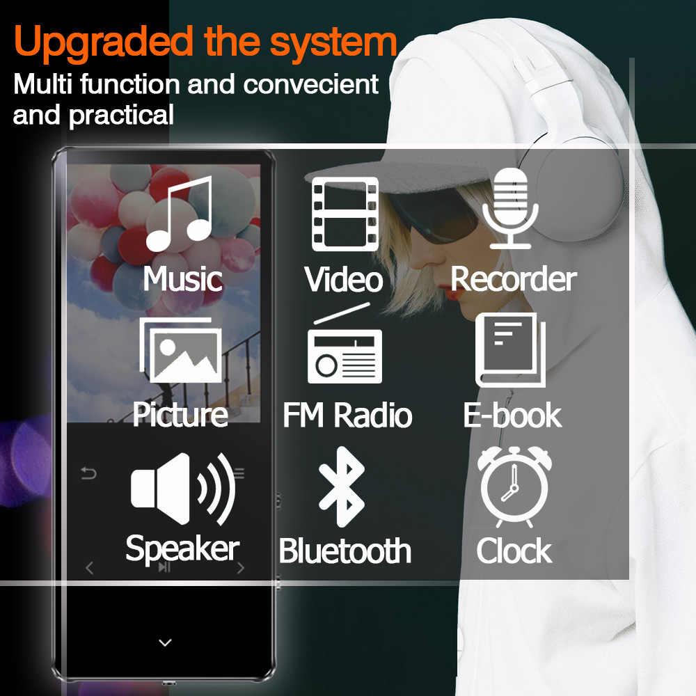 Hifi MP3 Speler Met Bluetooth 4.2 Fm Radio Touch Key 1.8 Scherm Mini Mp3 Sport Mp 3 Muziekspeler Draagbare metalen Walkman 128 Gb