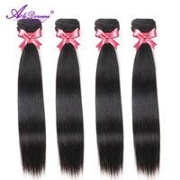 Alidoremi Brazilian Straight Hair Bundles 100% Human Hair Weave Natural Black Remy Hair Extension 26 28 30 Inch