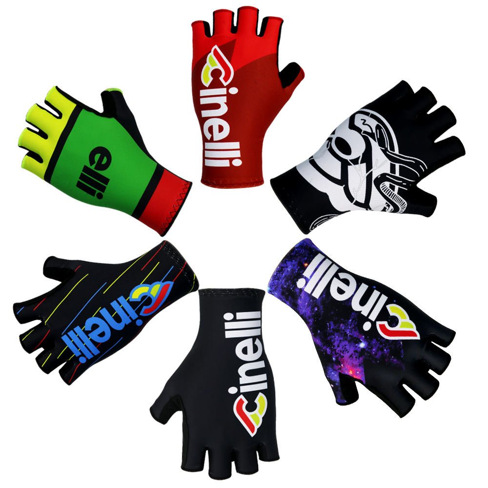 2020 Cycling Gloves Summer Non-slip Mat Bicycle Gloves Spandex Cloth MTB Racing Road Bike Gloves WOMEN/MEN Multi Style Choose