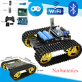 T101 Bluetooth/Griff/WiFi RC Control Robot Tank-Chassis Auto Kit mit UNO R3 Entwicklung Bord + Motor fahrer Bord DIY Spielzeug