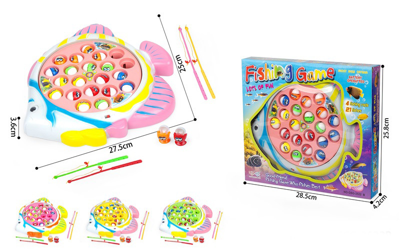 Children Power-driven Rotation Cartoon Fish Fishing Plate Music Fishing Plate Baby Parent And Child Interactive Educational Toy