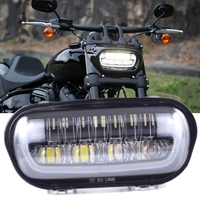 For Fat Bob headlight Motorcycle Led Hi Low Beam White DRL 55W Front Driving Lamp For Fatbob 2018 2019