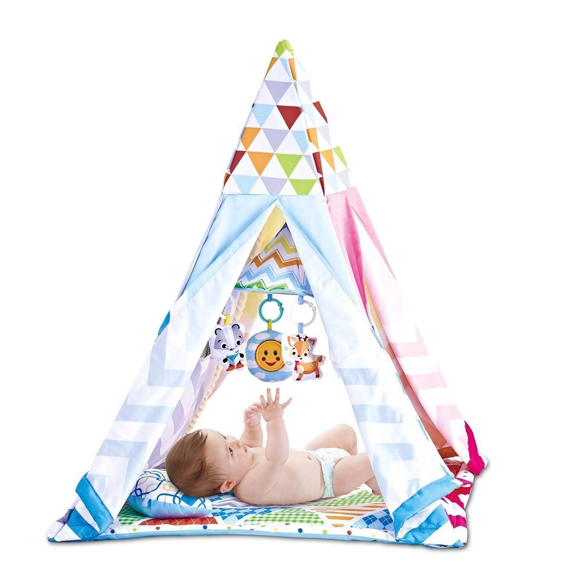 Детский коврик для ползания, Игровая палатка, коврик для ползания, палатка, игрушка для игр в помещении и на открытом воздухе, вигвам 8728