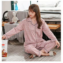 Women's Autumn Two-piece Home Suit for Spring and Summer Long-sleeved Loose Pants Pajamas Women Winter Home Wear Nightgowns