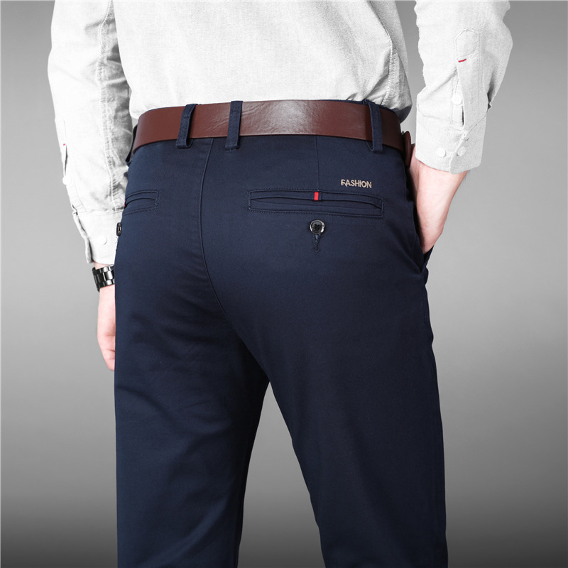 2019 Luxury Straight Business Casual Men Pants High Quality Designer Spring Autumn Elegant Male Leisure Long Formal Trousers