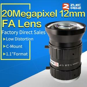 """Image 1 - 20 מגה פיקסל 12mm 1.1 """"F2.8 שלה/FA נמוך עיוות עדשה קבועה מוקד אורך C הר תעשייתי מצלמה ידנית איריס טלוויזיה במעגל סגור עדשה"""