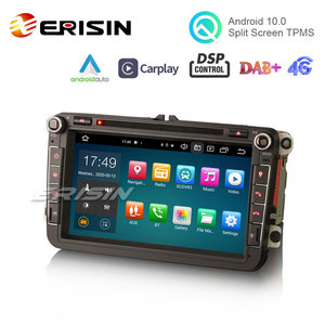 "Image 3 - Erisin 8105 8 ""Android 10.0 araba Stereo Carplay DSP DAB + WiFi USB GPS VW Passat Golf için 5/6 polo Amarok Tiguan Bora Skoda Seat"