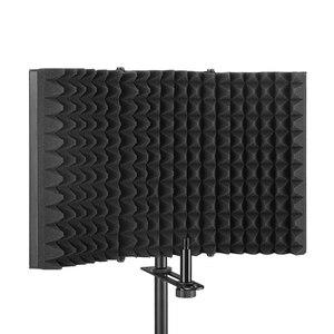 Image 4 - קצף פנל קול בולם סטודיו הקלטת מתקפל מסנן מיקרופון הפחתת רעש מקצועי שמשות בידוד מגן