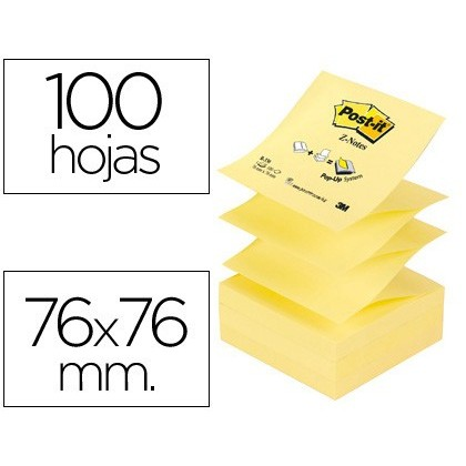 NOTEPAD STICKY NOTES REMOVABLE STICKERS POST-IT NOTES 76X76 MM Z-NOTES 12 Units