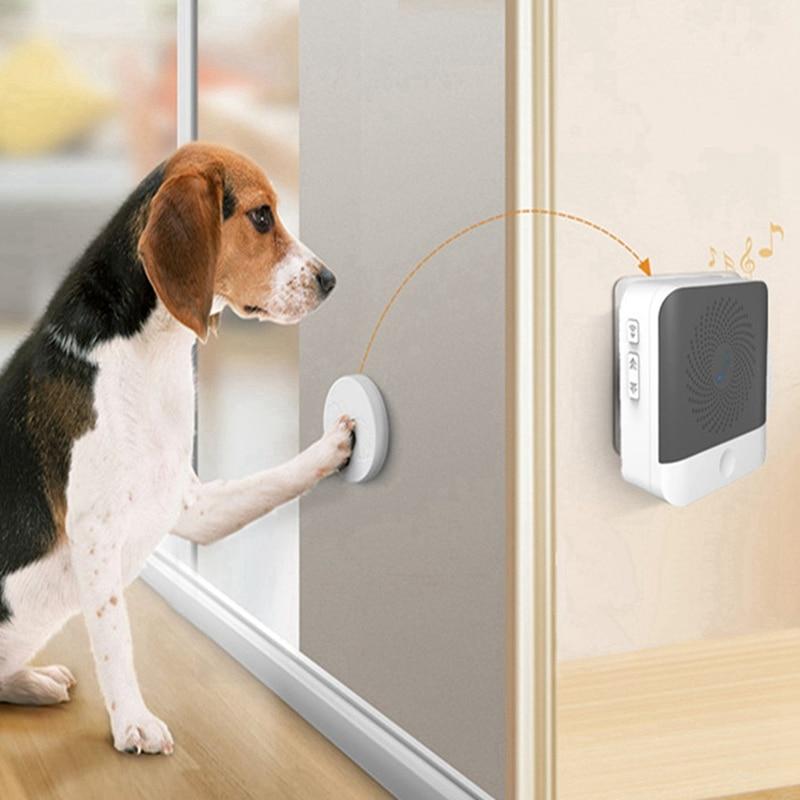 Dog Doorbell Standard Pet Doorbells Wireless Touch Button Dogs Training Doorbells Paw Bell Family Pet Dog Training Bells Hot-0