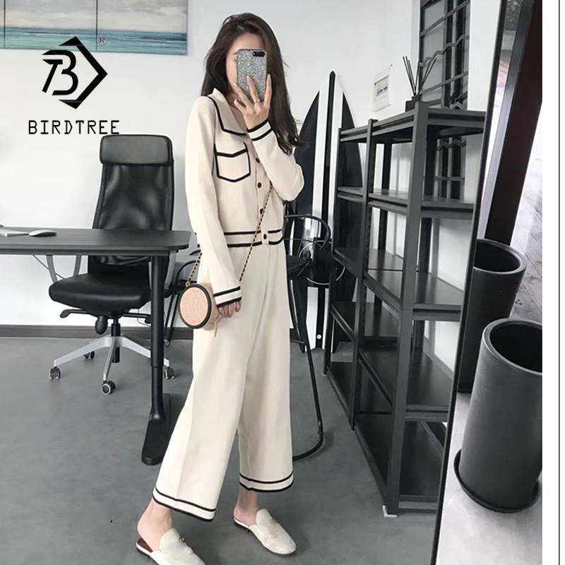 2020 Autumn New Arrival Women's Fashion Sets Casual Chic Lapel Tops And Casual Pants S9N612T
