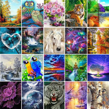 5D Diy Diamond Painting Cross Stitch Kits Diamond Mosaic Embroidery Landscape Animals 3D Painting Full Round&Square Drill Gifts