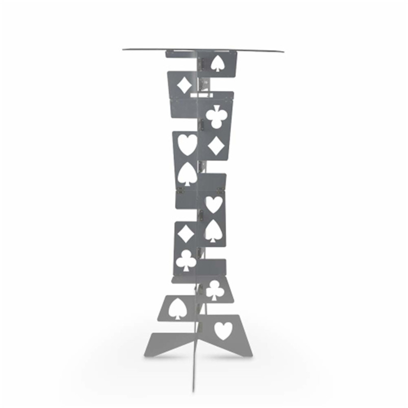 Aluminum Magic Folding Table (Alloy)- Silver Color Magic Tricks Magician's Best Table Stage Close Up Illusions Magia Accessories