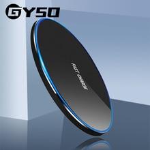 GYSO شاحن لاسلكي Qi ، شحن سريع 20 واط ، لهاتف Samsung S20 S10 Note 10 iPhone 11 Pro Xs Max X 8 Plus
