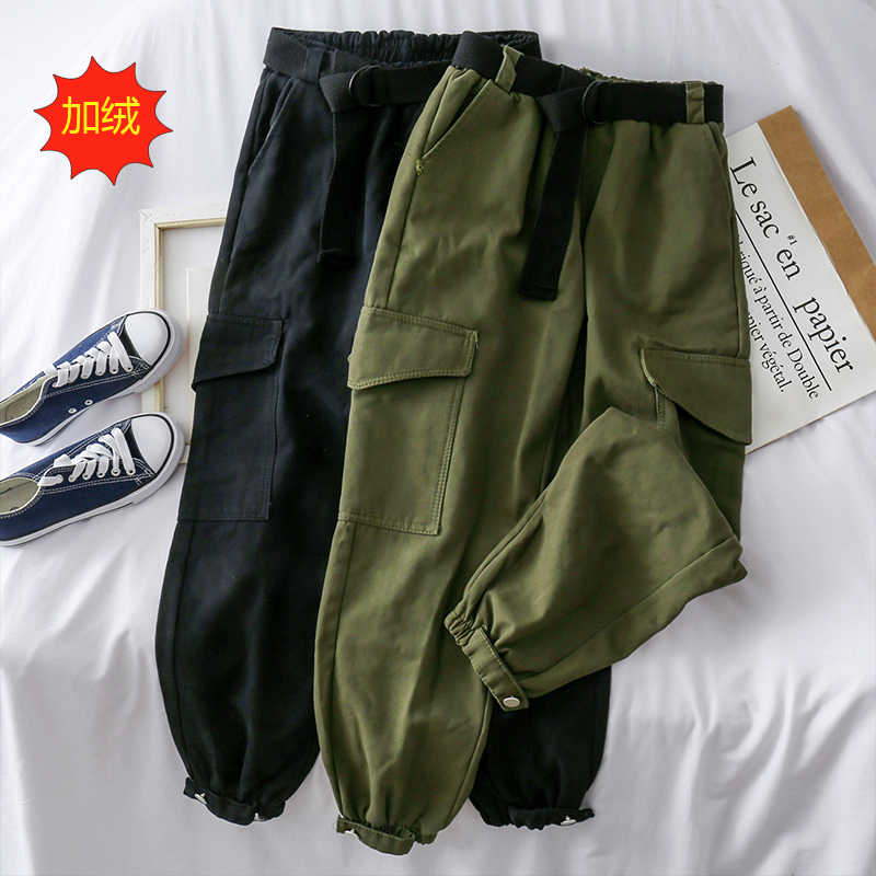 Pantalones Cargo Vintage Coreanos Para Mujer Ropa De Calle De Cintura Alta Moda Femenina Primavera Y Verano Zt5349 2021 Pantalones Y Pantalones Capri Aliexpress